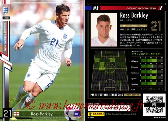 Panini Football League 2015 - PFL11 - N° 086 - Ross BARKLEY (Angleterre)