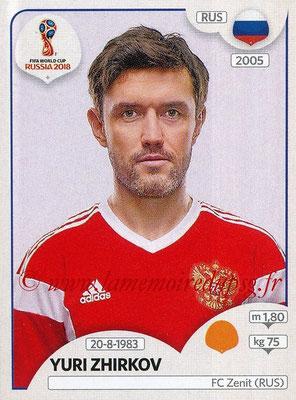 2018 - Panini FIFA World Cup Russia Stickers - N° 044 - Yuri SHIRKOV (Russie)