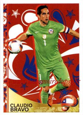 Panini Copa America Centenario USA 2016 Stickers - N° 406 - Claudio BRAVO (Chili) (En action)