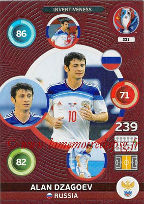 Panini Euro 2016 Cards - N° 331 - Alan DZAGOEV (Russie) (Inventiveness)