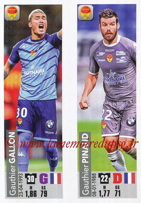 2018-19 - Panini Ligue 1 Stickers - N° 548 - Gauthier GALLON + Gauthier PINAUD (US Orleans)