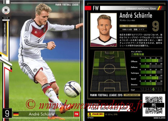 Panini Football League 2015 - PFL09 - N° 105 - André SCHÜRRLE (Allemagne)