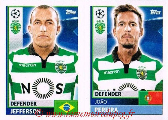 2016-17 - Topps UEFA Champions League Stickers - N° SPO 6-7 - João PEREIRA + JEFFERSON (Sporting CP)