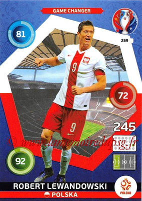 Panini Euro 2016 Cards - N° 259 - Robert LEWANDOWSKI (Pologne) (Game Changer)