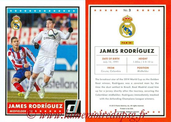 2015 - Panini Donruss Soccer - N° 003 - James RODRIGUEZ (Real Madrid CF)
