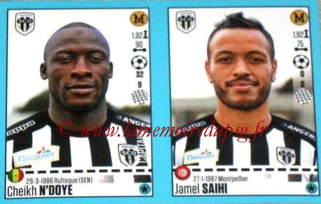 2016-17 - Panini Ligue 1 Stickers - N° 032 + 033 - Cheikh N'DOYE + Jamel SAIHI (Angers)