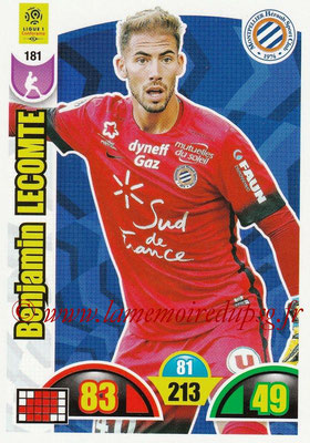2018-19 - Panini Adrenalyn XL Ligue 1 - N° 181 - Benjamin LECOMTE (Montpellier)