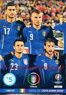 Panini Road to Euro 2016 Cards - N° 125 - Equipe Italie 2