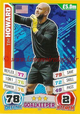 Topps Match Attax England 2014 - N° 233 - Tim HOWARD (Etats-Unis)