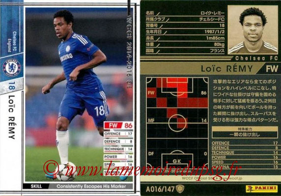 2014-15 - WCCF - N° A016 - Loic REMY (Chelsea FC)