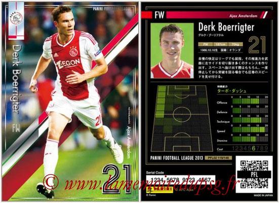 Panini Football League 2013 - PFL02 - N° 119 - Derk Boerrigter ( Ajax Amsterdam )
