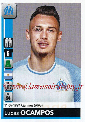 2018-19 - Panini Ligue 1 Stickers - N° 219 - Lucas OCAMPOS (Marseille)