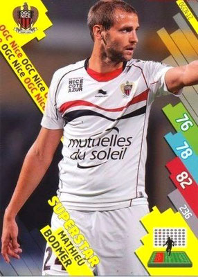 N° 208 - OGCN-12 - Mathieu BODMER (2010-13, PSG > 2014-15, Nice) (Superstar)