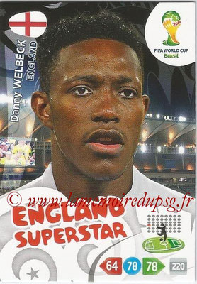 2014 - Panini FIFA World Cup Brazil Adrenalyn XL - N° 140 - Danny WELBECK (Angleterre)