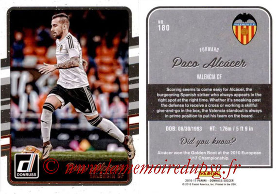 2016 - Panini Donruss Cards - N° 180 - Paco ALCACER (FC Valence)
