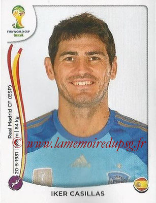2014 - Panini FIFA World Cup Brazil Stickers - N° 110 - Iker CASILLAS (Espagne)