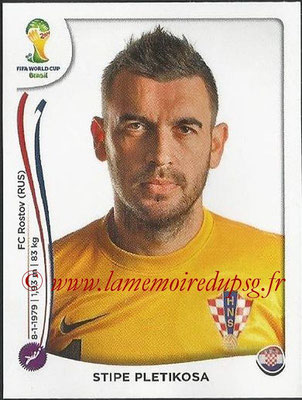 2014 - Panini FIFA World Cup Brazil Stickers - N° 053 - Stipe PLETIKOSA (Croatie)