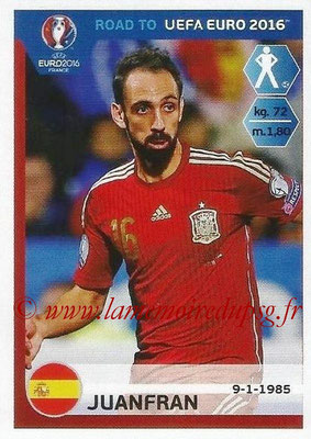 Panini Road to Euro 2016 Stickers - N° 086 - JUANFRAN (Espagne)