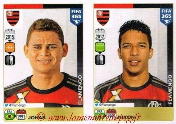 2015-16 - Panini FIFA 365 Stickers - N° 215-216 - JONAS + NIXON (CR Flamengo)