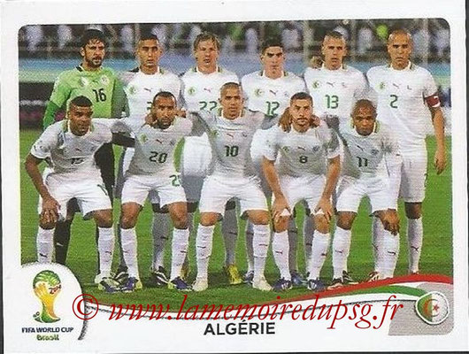 2014 - Panini FIFA World Cup Brazil Stickers - N° 584 - Equipe Algérie