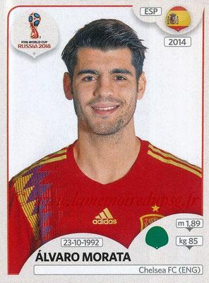 2018 - Panini FIFA World Cup Russia Stickers - N° 149 - Alvaro MORATA (Espagne)