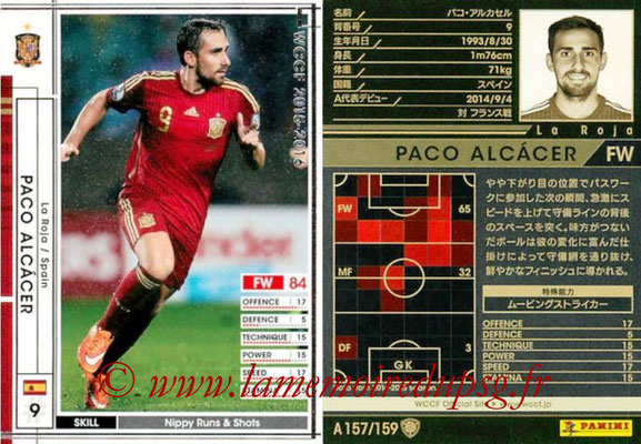 2015-16 - Panini WCCF - N° A157 - Paco ALCACER (Espagne)