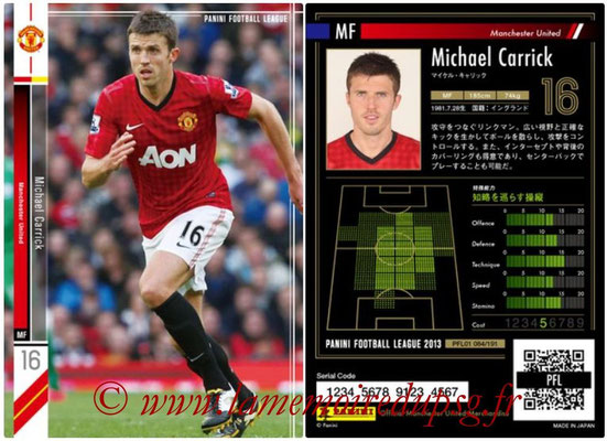 Panini Football League 2013 - PFL01 - N° 084 - Michael Carrick ( Manchester United  )