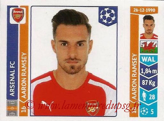 2014-15 - Panini Champions League N° 260 - Aaron RAMSEY (Arsenal FC)