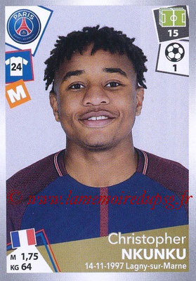 2017-18 - Panini Ligue 1 Stickers - N° 378 - Christopher NKUNKU (Paris Saint-Germain)