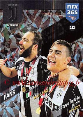 2017-18 - Panini FIFA 365 Cards - N° 212 - Célébration Juventus (Milestone)