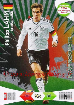 2014 - Panini Road to FIFA World Cup Brazil Adrenalyn XL - N° 194 - Philipp LAHM (Allemagne) (Fan's Favourite)