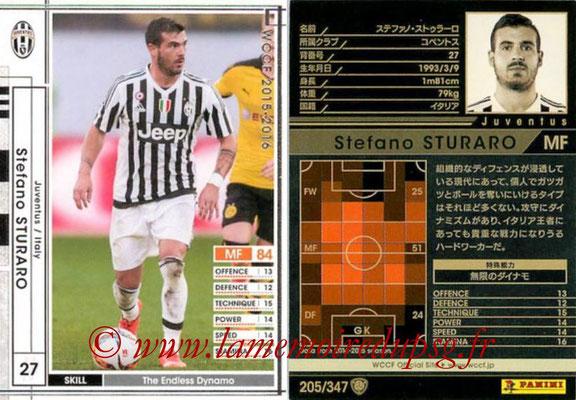 2015-16 - Panini WCCF - N° 205 - Stefano STURARO (Juventus FC)