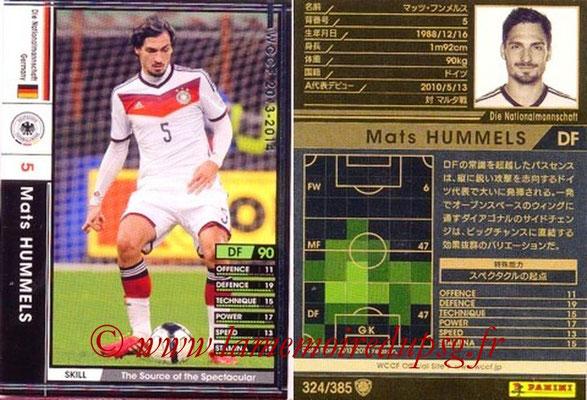 2013-14 - WCCF - N° 324 - Mats HUMMELS (Allemagne)