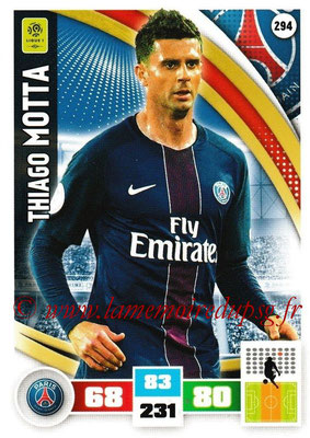 2016-17 - Panini Adrenalyn XL Ligue 1 - N° 294 - Thiago MOTTA (Paris Saint-Germain)