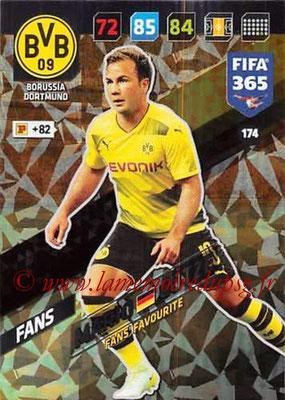2017-18 - Panini FIFA 365 Cards - N° 174 - Mario GÖTZE (Borussia Dortmund) (Fans' Favourite)