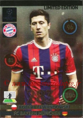 2014-15 - Adrenalyn XL champions League N° LE-RL - Robert LEWANDOWSKI (Bayern Munich) (Limited Edition)