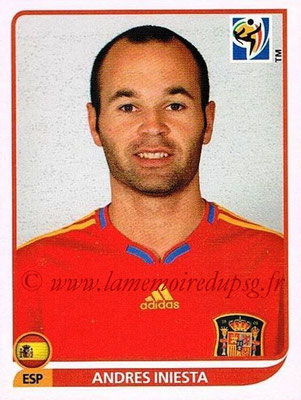 2010 - Panini FIFA World Cup South Africa Stickers - N° 577 - Andres INIESTA (Espagne)