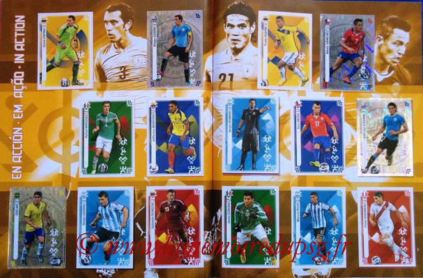 Panini Copa America Chile 2015 Stickers - Pages 44 et 45 - En action