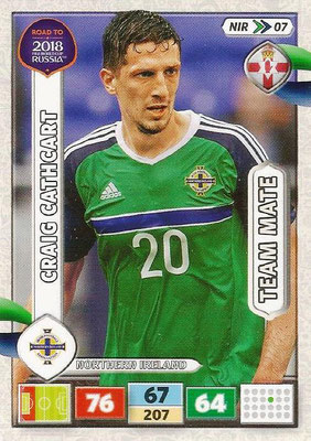 2018 - Panini Road to FIFA World Cup Russia Adrenalyn XL - N° NIR07 - Craig CATHCART (Irlande du Nord) (UK Version)