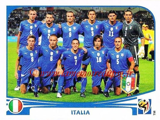 2010 - Panini FIFA World Cup South Africa Stickers - N° 410 - Équipe Italie