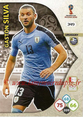 2018 - Panini FIFA World Cup Russia Adrenalyn XL - N° 349 - Gaston SILVA (Uruguay)