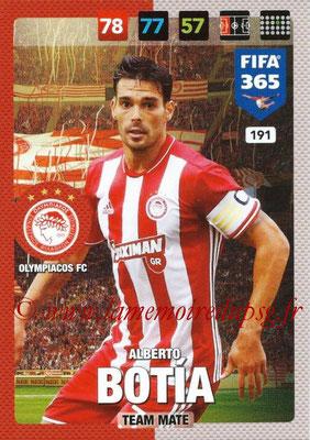 2016-17 - Panini Adrenalyn XL FIFA 365 - N° 191 - Alberto BOTIA (Olympiacos FC)