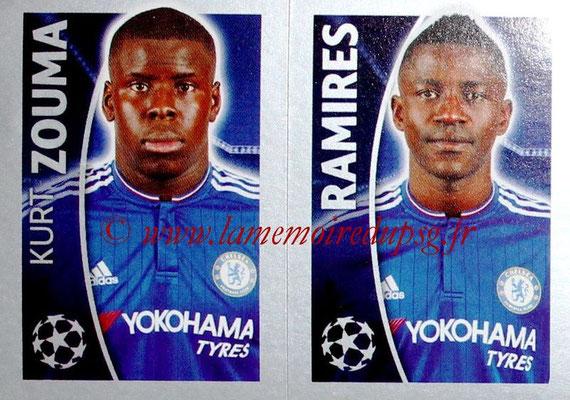 2015-16 - Topps UEFA Champions League Stickers - N° 462 - Kurt ZOUMA + RAMIRES (Chelsea FC)
