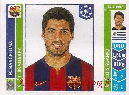 2014-15 - Panini Champions League N° 425 - Luis SUAREZ (FC Barcelone)