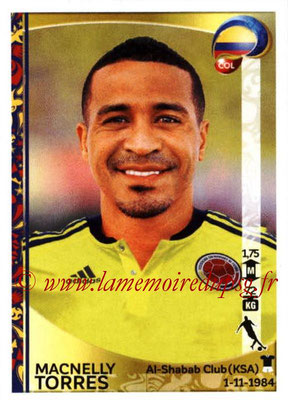 Panini Copa America Centenario USA 2016 Stickers - N° 054 - Macnelly TORRES (Colombie)