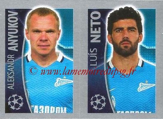 2015-16 - Topps UEFA Champions League Stickers - N° 534 - Aleksandr ANYUKOV + Luis NETO (FC Zenit)