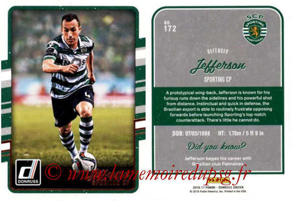 2016 - Panini Donruss Cards - N° 172 - JEFFERSON (Sporting CP)