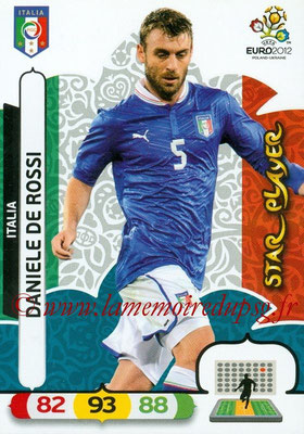 Panini Euro 2012 Cards Adrenalyn XL - N° 125 - Daniele DE ROSSI (Italie) (Star Player)