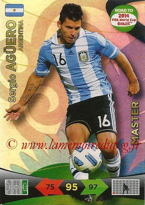 2014 - Panini Road to FIFA World Cup Brazil Adrenalyn XL - N° 221 - Sergio AGUERO (Argentine) (Master)