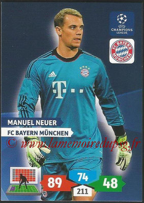 2013-14 - Adrenalyn XL champions League N° 082 - Manuel NEUER (FC Bayern Munich)